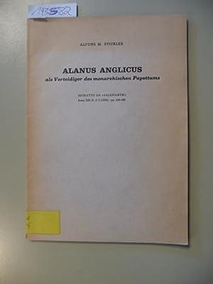 Alanus Anglicus als Verteidiger des monarchistischen Papsttums - Estratto da Salesianum - Anno ...
