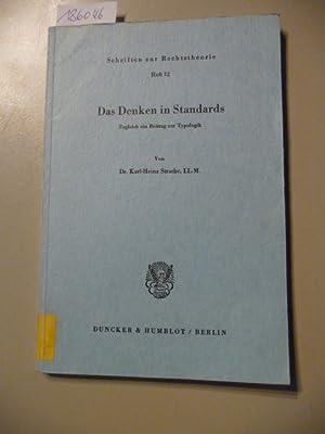 Das Denken in Standards : zugleich ein Beitrag zur Typologie: Strache, Karl-Heinz