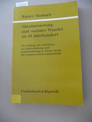 Säkularisierung und sozialer Wandel im 19. Jahrhundert : die Stellung von Geistlichen zu ...