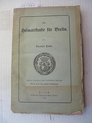 Heimatkunde für Berlin: Cotta, Theodor