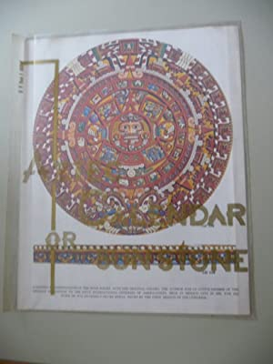 The Sun Stone or Aztec Calendar. Literature: Flandes, Robert Sieck