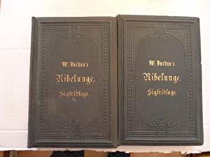 W. Jordan's Nibelunge. Sigfridsage. Erster und Zweiter Theil. Gesang 1 - 12, 13 - 24. (2 B&...