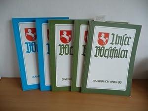 Unser Westfalen. Jahrbuch 1984/85 + 1985/86 + 1986/87 + 1988 + 1989 (5 BÜCHER):...