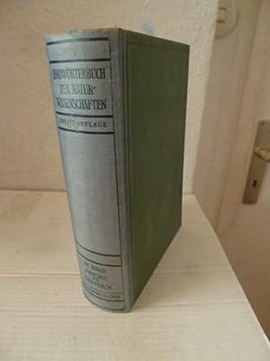 Handwörterbuch der Naturwissenschaften: Vierter Band: Fische-Geuther: Hrsg.) v. R. Dittler, G....