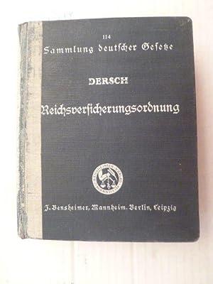Die neue Reichsversicherungsordnung. Handausgabe mit kurzen Anmerkungen und einer systematischen ...