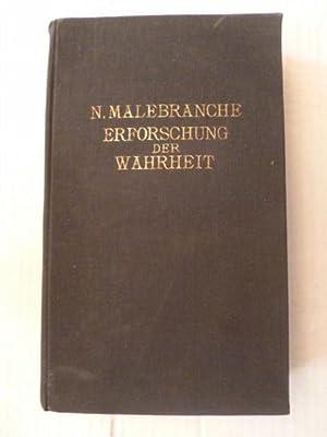 Nicole Malebranche. Erforschung der Wahrheit in drei Bänden. Erster Band. Buch 1 bis 3.: ...