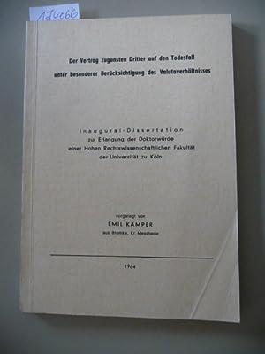 Der Vertrag zugunsten Dritter auf den Todesfall unter besonderer Berücksichtigung des ...