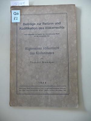 Allgemeines Völkerrecht des Küstenmeers: Niemeyer, Theodor [1857-1939]