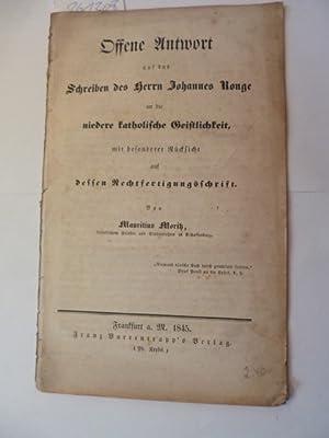 Offene Antwort auf das Schreiben des Herrn Johannes Ronge an die niedere katholische Geistlichkeit,...