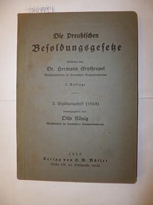 Die Preussischen Besoldungsgesetze - 2. Ergänzungsgeft (1925): Hrsg.) Otto K�nig und erl. von ...