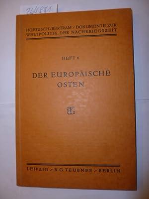 Der europäische Osten: Hoetzsch, Otto [1876-1946]