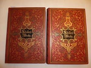Schillers Werke. Illustrirt von ersten deutschen Künstlern - Erster u. zweiter Band (2 BÜ...