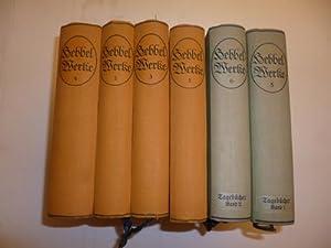Hebbels Werke in vier Bänden - mit Ergänzungsbände (Tagebücher) Mit einem Bild ...