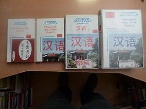 ASSIMIL Cassettes chinesisch 1 + Chinesisch ohne Mühe Band 2 (1 Lehrbuch und 4 Ton-Cassetten) ...
