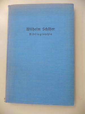 Wilhelm Schäfer - Bibliographie: Schäfer, Wilhelm