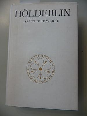 Hölderlin Sämtliche Werke - Stuttgarter Hölderlin-Ausgaabe ,,, (Hrsg.). von ...