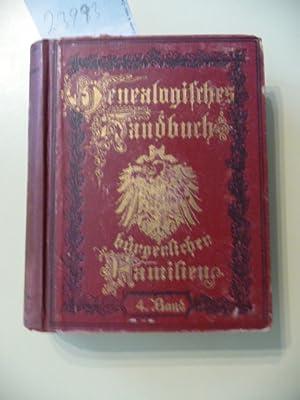 Genealogisches Handbuch Bürgerlicher Familien ein deutschen Geschlechterbuch - Vierter Band: ...