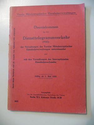 Übereinkommen für den Diensttelegrammverkehr (VTÜ) der Verwaltungen des Vereins ...