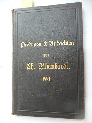 Predigten & Andachten.: Blumhardt, Chr.
