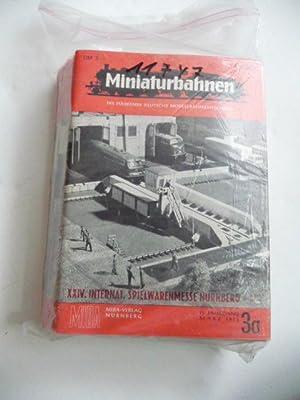 Miniaturbahnen. - Die Führende Deutsche Modellbahnzeitschrift. Hefte zur Inernationale(n) ...