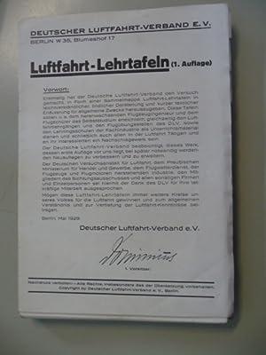 Luftfahrt-Lehrtafeln.: Deutscher Luftfahrt-Verband (Hg.)