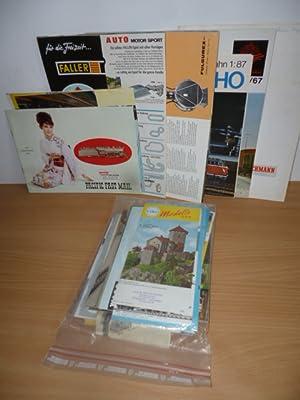 Konvolut Modell-Eisenbahn-Kataloge aus den 60er Jahren. - Fleischmann (3) / Liliput HO (4) &#...
