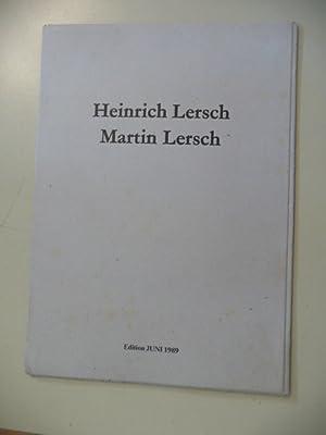 Heinrich Lersch. 4 übermalte Offsettdrucke von Martin Lersch.: Lersch, Martin
