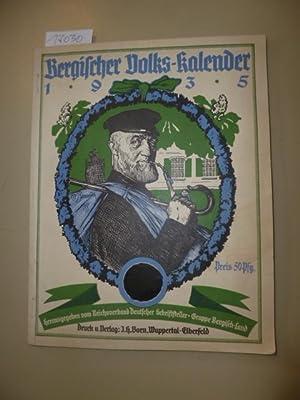 Bergischer Volks-Kalender 1935 (früher Kalender für das Bergische Haus): Diverse