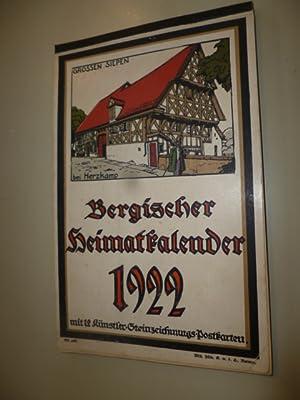 Bergischer Heimatkalender 1922 mit 12 Künstler-Steinzeichnungs-Postkarten.: ANONYM