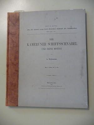 Der Kameruner Schiffsschnabel Und Seine Motive.: FROBENIUS, L.