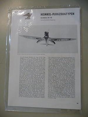 Heinkel-Flugzeugtypen. - Heinkel HE 70 - Schnellverkehrsflugzeug / Heinkel HE 72 Kadett - ...
