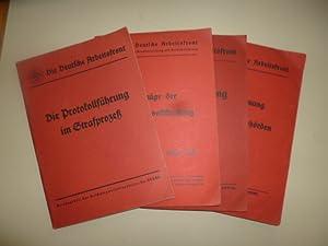 Die Deutsche Arbeitsfront. - Die Aktenordnung für die deutschen Justizbehörden / Die...
