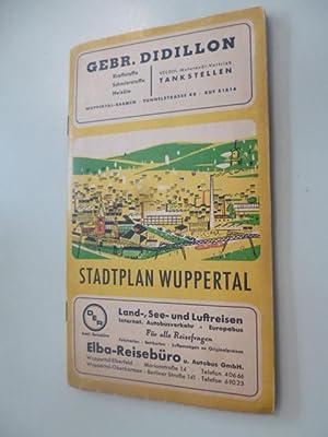Stadtplan von Wuppertal unter besonderer Hervorhebung der Durchgangs- u. Ausfallstraßen, der ...