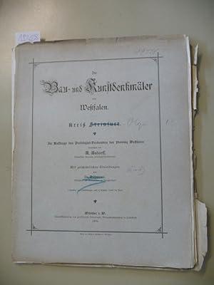 Die Bau- und Kunstdenkmäler des Kreises Olpe.: Ludorff, A.,