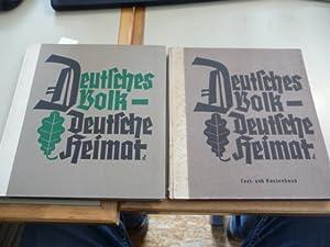 Deutsches Volk - Deutsche Heimat - Bildband, Text- und Kartenband (2 BÜCHER): W�chter, Fritz (...