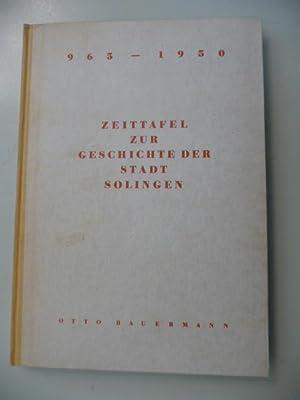 Zeittafel Zur Geschichte Der Stadt Solingen 965-1950: Bauermann, Otto