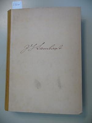 Schriften zur Perspektive - Herausgegeben und eingeleitet von Max Streck,: Lambert, Johann Heinrich