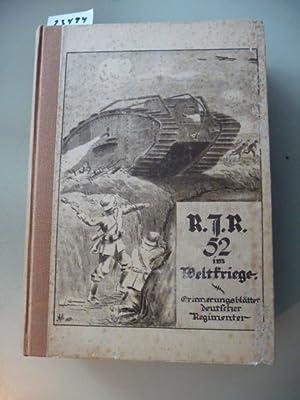 Res.-Inf.-Regiment 52 im Weltkriege - Zusammengestellt aus Berichten, Tagebüchern und eigenen ...