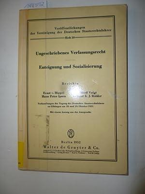 Ungeschriebenes Verfassungsrecht: Hippel, Ernst von