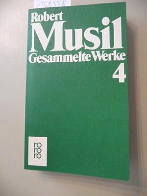 Gesammelte Werke in neun Bänden, Band 4: Musil, Robert