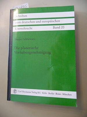Die planerische Vorhabengenehmigung : zu Problemen bei ihrer Anwendung auf die Planung von ...