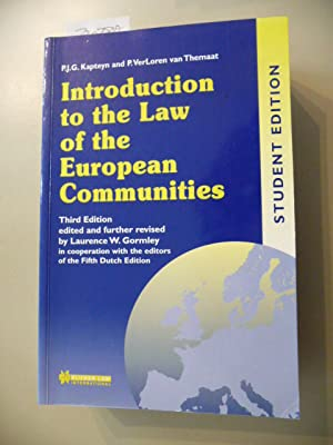 Introduction to the law of the European: Kapteyn, Paul J.