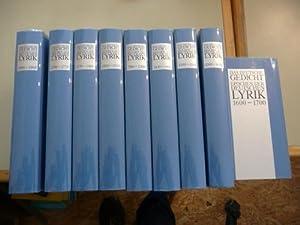 Das deutsche Gedicht. Epochen der deutschen Lyrik 9 Bände komplett (9 BÜCHER): Lindemann,...