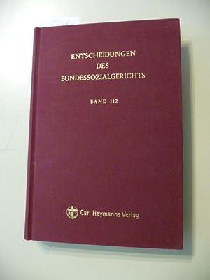 ENTSCHEIDUNGEN DES BUNDESSOZIALGERICHTS - Band 112 - 2013: Diverse