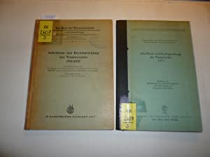 Konvolut : Schrifttum und Rechtsprechung des Wasserrechts 1945-1955; Das Recht der Wasserwirtschaft...