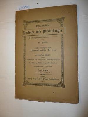 Landesväterliche Fürsorge der preußischen Könige für die preuß...