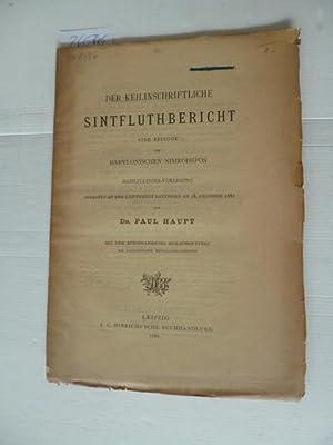 Der keilinschriftliche Sintfluthbericht : eine Episode des babylonischen Nimrochepos - ...