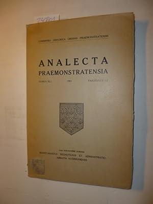 Analecta Praemonstratensia, Tomus XLI - Fasciculus 1-2: Diverse