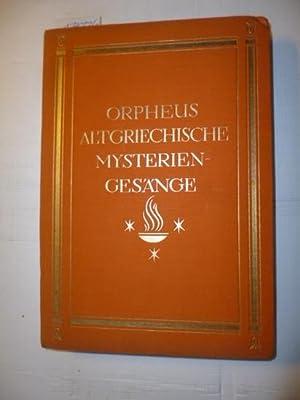 Orpheus. Altgriechische Mysteriengesänge: Plassmann, J.O. (�bertragen u. erl�utert)
