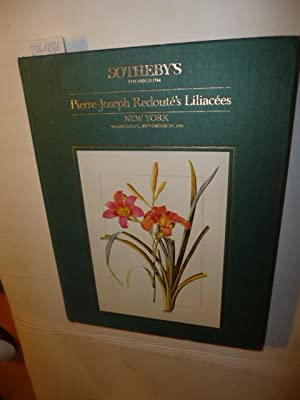 SOTHEBY'S NEW YORK NOVEMBER 20 1985 PIERRE-JOSEPH REDOUTE'S LILIACEES CATALOGUE 5397